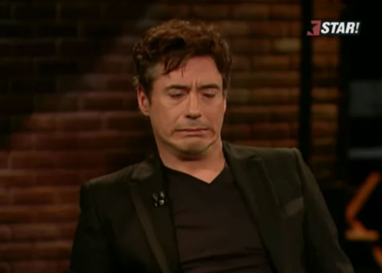 Robert Downey Jr - Worried